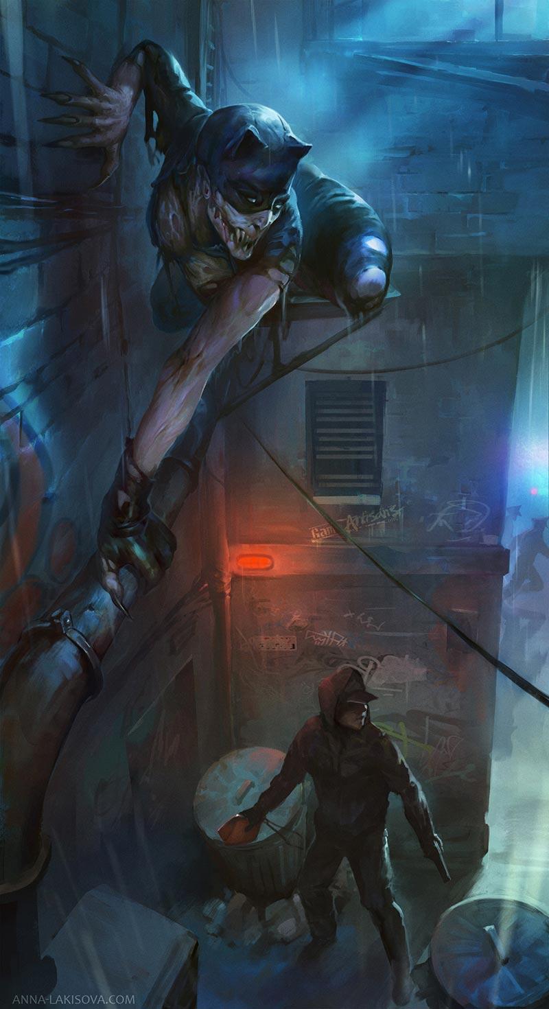 Zombie Catwoman undead DC